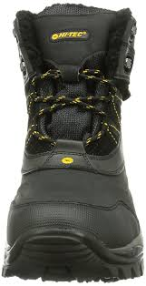 mens biker shoes hi tec snow peak 200 wp men u0027s biker boots black black gold 021