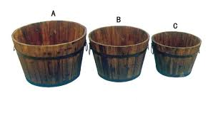china outdoor antique wooden barrel planter wooden barrel for