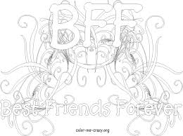 bff coloring pages download print free