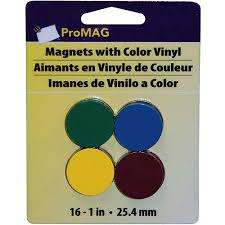 promag round magnets with colored vinyl assorted colors 1