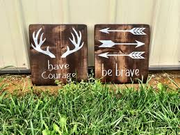 Rustic Nursery Decor Rustic Nursery Decor Deer Decor Be Brave Courage Nursery
