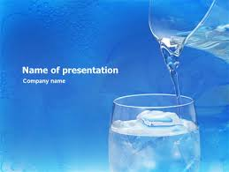 Water Powerpoint Templates by Glass Of Water And Powerpoint Template Backgrounds 01519