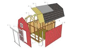 Gambrel Roof Plans by Barn Shed Plans Howtospecialist How To Build Step By Step Diy
