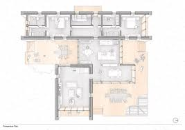 Floor Plan And Perspective Casa T Onur Teke Perspective Architectural Floor Plans And