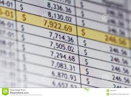 Financial Spreadsheet Financial Spreadsheet Stock Photo Image 34370150