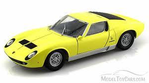 lamborghini diecast model cars lamborghini miura p 400 s yellow motormax 73368 1 24 scale