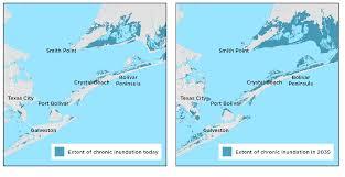 galveston island map galveston county faces sea level rise and storms union