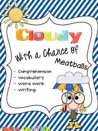 cloudy chance meatballs comprehension vocabulary