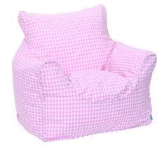 furniture home pink gingham bean chair beanbags for kids seating