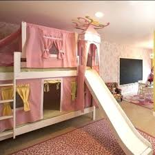 Princess Bunk Bed With Slide Bunk Bed Slides Bunk Bed Bunk Bed Slide Add On Startcourse Me