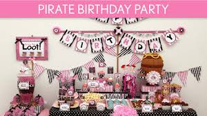 pirate birthday party pirate birthday party ideas pirate girl pink black b10
