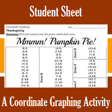 mmm pumpkin pie a coordinate graphing activity