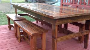 Diy Dining Room Table Plans Ana White Rustic Farm Table U0026 Benches Diy Projects