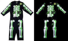 halloween 3 t shirt boys skeleton bats spiders glow in the dark novelty halloween