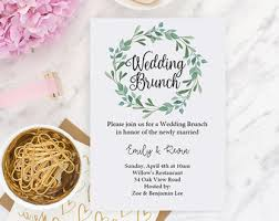 after wedding brunch invitation brunch invitation etsy