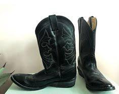 womens black cowboy boots size 9 vintage boots cowboy boots 70s boots size 9 shoes size 9