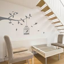 tree branch with bird cage wall sticker decals birds vinyl uk bird cage tree branch wall sticker