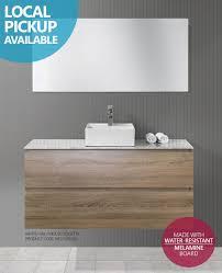 bogetta 1200mm white oak timber wood grain bathroom vanity with