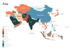 Continent Of Asia Map by Cost Obsessions Around The World