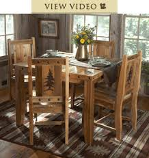 Carved Dining Table And Chairs Rustic Dining Furniture Black Forest Decor