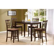 cardiff 5 piece espresso finish pack counter height dining table