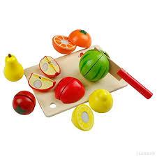 jeux de cuisine pour bébé jouet de cuisine fruits à découper en bois jeu d imitation pour bébé