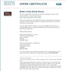 ruth s chris gift cards yummylocal ruth s chris steak house gift certificate deal