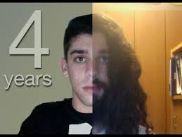 stop womens chin hair growth four years time lapse growing my facial hair youtube