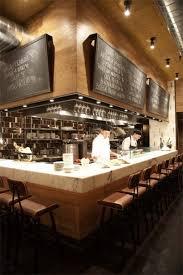 kitchen lovely restaurant open kitchen interior design of aldea