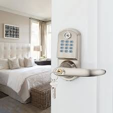 Keypad Interior Door Lock Home Security Electronic Digital Code Keyless Keypad Entry Door