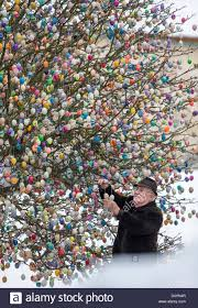 german easter egg tree uncategorized volker kraft decorates hisastergg tree in saalfeld