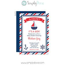 nautical baby shower invitations boy s nautical baby shower invitation