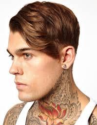 earring men lyst asos anchor earrings in metallic for men