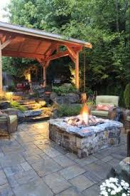 Flagstone Ideas For A Backyard Outdoor Flagstone Patio Ideas On A Budget With Unique Round Fire