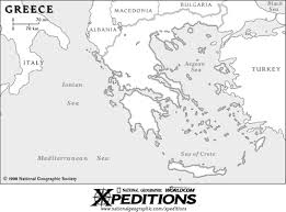 blank map of ancient greece arch of ancient greece