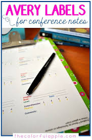 Guided Reading How To Organize Avery Labels Can Be Used To Organize Reading Conference Notes