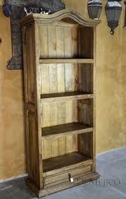 Arched Bookcase Rustic Book Case Catalog Hacienda Style Furniture By Demejico