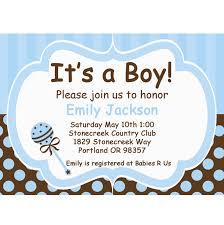 baby boy invitations baby boy blue and brown printable invitation