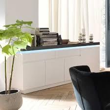 Esszimmer Mit Glastisch Esszimmer Sideboard Rebelvo Mit Dimmbarer Beleuchtung
