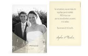 modele remerciement mariage carte de remerciement mariage à personnaliser faireparterie