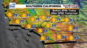 California Weather Map Southern California Southwest High Temperatures