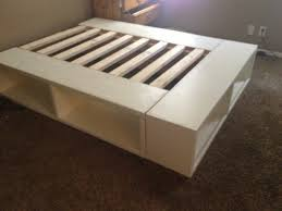 Easy To Build Platform Bed With Storage by Happy Huntsman Diy Storage Bed