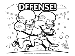 football fun coloring pages kids coloring