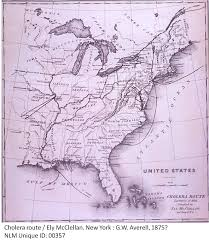 Us Geography Map Ely Mcclellan U0027s Map Of The U S Cholera Epidemic In 1832 Drawn Up