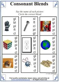 consonant blends worksheets u0026 lessons