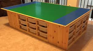 Ikea Table Top by The Lego Table Goes Awesome Uses 4 Ikea U0027s Trofast Frames 4 Feet