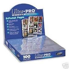Pocket Pages 100 Ultra Pro 9 Pocket Pages For Binder Baseball Cards Or Coupon