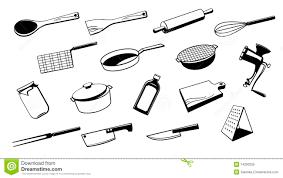 ustencile de cuisine outil d ustensile de cuisine illustration de vecteur illustration
