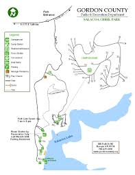Georgia State Parks Map by Salacoa Creek Park Gordon County Government