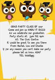know it owls party free printable graduation party invitation